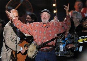 APTOPIX Pete Seeger Benefit Concert