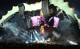 "U2 opening night - with the ""claw""stage"